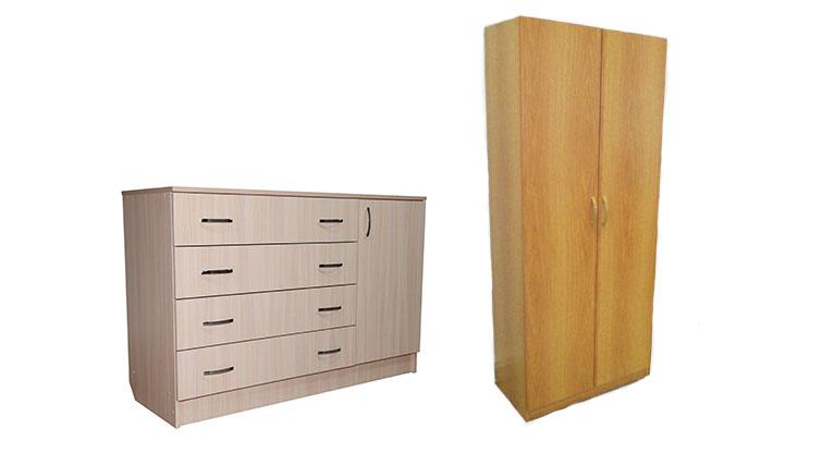 Платяный шкаф и комод