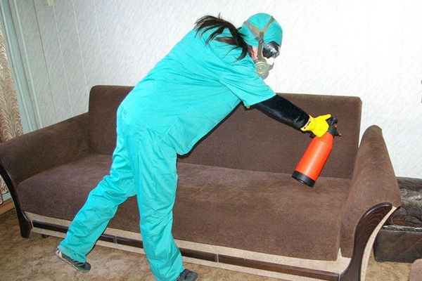 Использование пульверизатора для отравы
