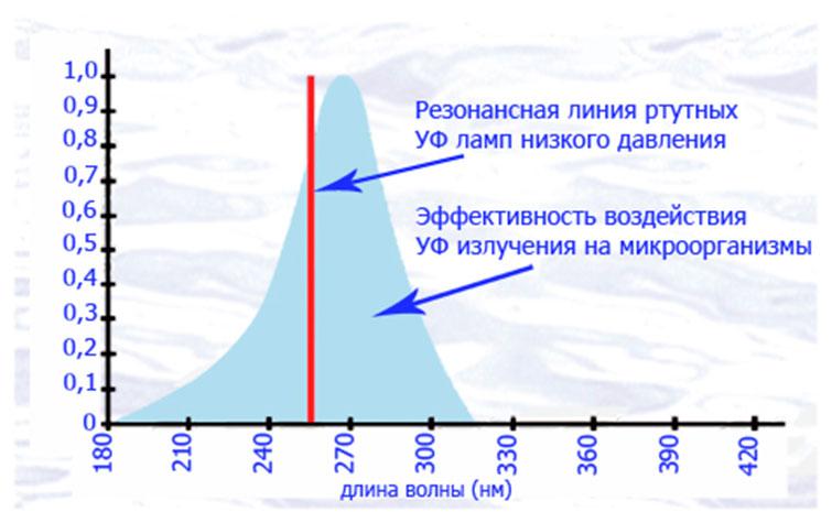 Таблица воздействия ультрафиолета на микроорганизмов