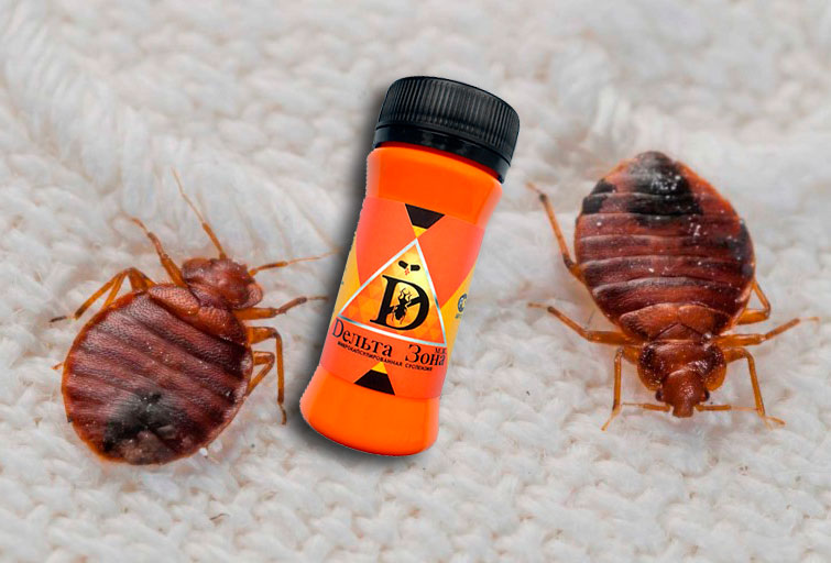 Дельта зона - средство от клопов, блох, тараканов