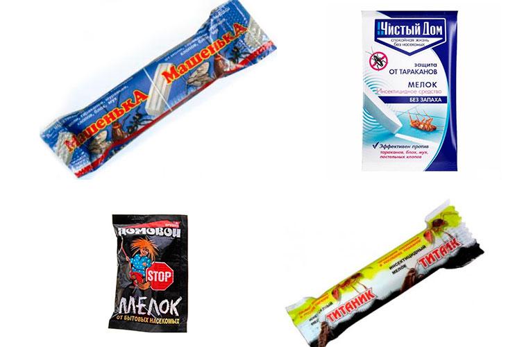 Несколько видов карандашей от клопов