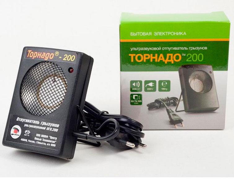 Ультразвуковой отпугиватель грызунов Торнадо ОГ.08-200