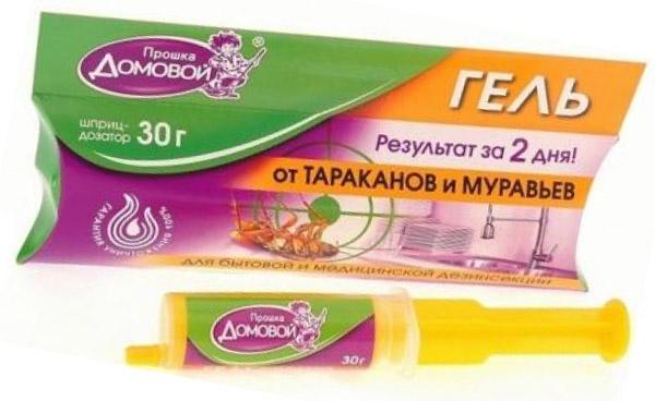 Новая упаковка геля от тараканов Домовой Прошка