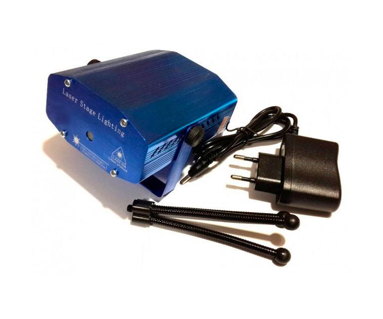 Лазерный отпугиватель птиц Mini Laser Stage Light комплектация