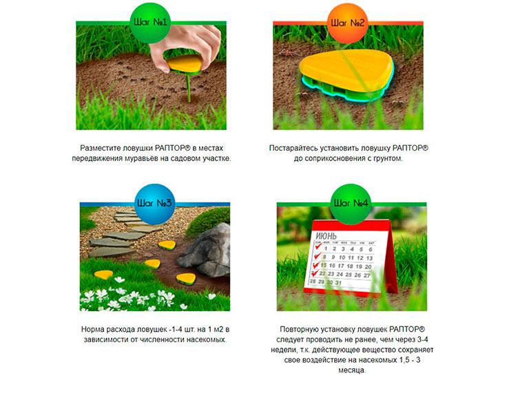 Инструкция ловушки для садовых муравьев Раптор