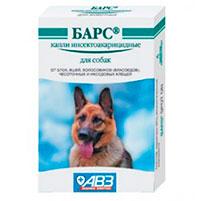 Капли от блох и клещей для собак Барс