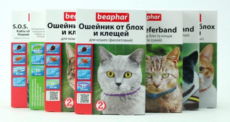 beaphar ошейник от блох и клещей для кошек