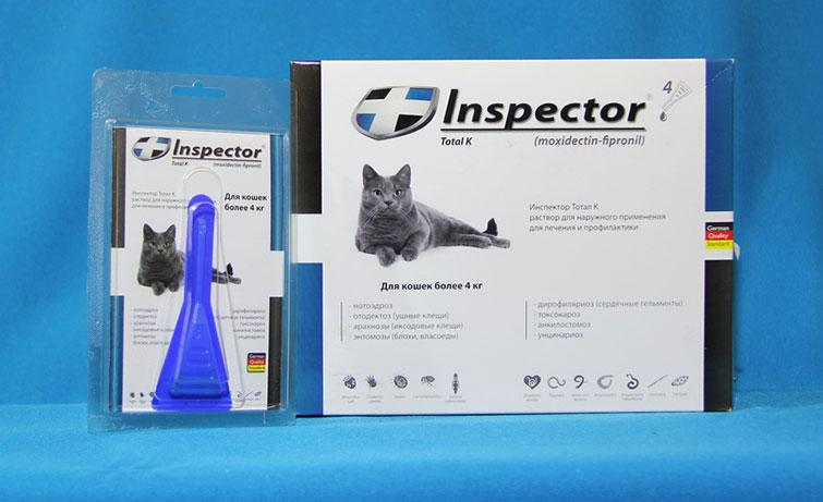 Капли от блох и клещей для кошек Инспектор