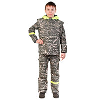 Детский противоэнцефалитный костюм Биостоп 6-12 лет (зеленый камуфляж)