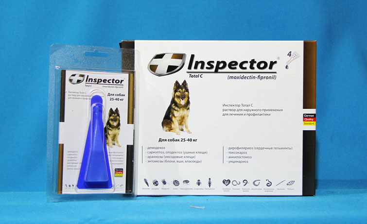 Капли от блох для собак Инспектор