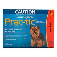 Практик капли для собак от 4,5 до 11 кг т блох и клещей 1 пипетка.