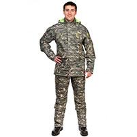 Мужской противоэнцефалитный костюм Биостоп - Премиум (цвет - зеленый камуфляж)