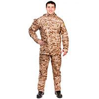 Мужской противоэнцефалитный костюм Биостоп - Премиум (цвет - песочный камуфляж)