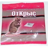 Мумифицирующая приманка от крыс и мышей Морторат