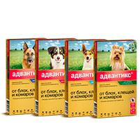 Капли от блох и клещей для собак Адвантикс