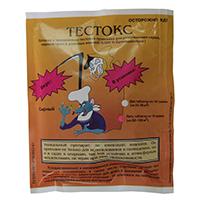 Тестокс (50 гр): тестобрикет для уничтожения грызунов