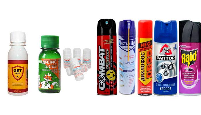 Химические средства для избавления от блох