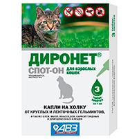 Диронет Спот-Он капли от паразитов для кошек: инструкция по применению и отзывы