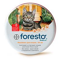 Форесто ошейник для кошек от блох и клещей: инструкция по применению и отзывы