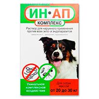 Капли ИН-АП Астрафарм противопаразитарный комплекс для собак: инструкция по применению и отзывы