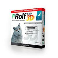 Рольф Клуб 3D антипаразитарный ошейник для кошек: инструкция по применению и отзывы