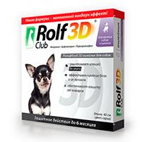 Рольф клуб 3D ошейник инсектоакарицидный от блох и клещей для собак: инструкция по применению и отзывы