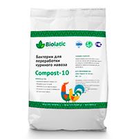 Бактерии для переработки куриного помета Biolatic Compost-10: инструкция по применению и отзывы от покупателей