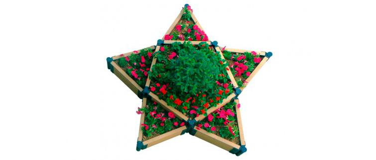 Готовая садовая клумба звезда