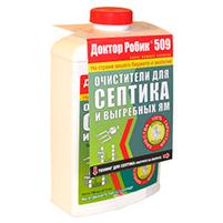 Доктор Робик 509 очиститель для септиков и выгребных ям (1 л): инструкция по применению и отзывы от пользователей