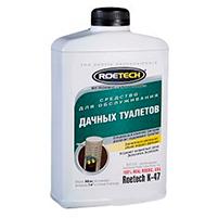 Roetech K-47 средство для обслуживания дачных туалетов и септиков (950 мл): инструкция по применению и отзывы от пользователей