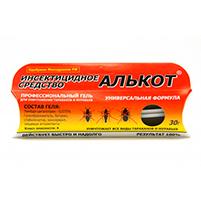 Инсектицидный средство от тараканов и муравьев Алькот Гель (30г)