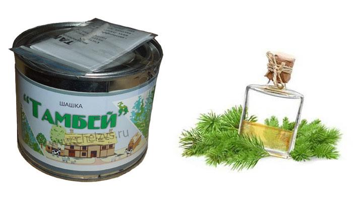 Пихтовое масло в составе дымовой шашки «Тамбей»