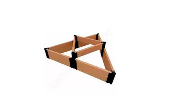 Клумба из комплекта «Еврогрядка» в форме двух треугольников