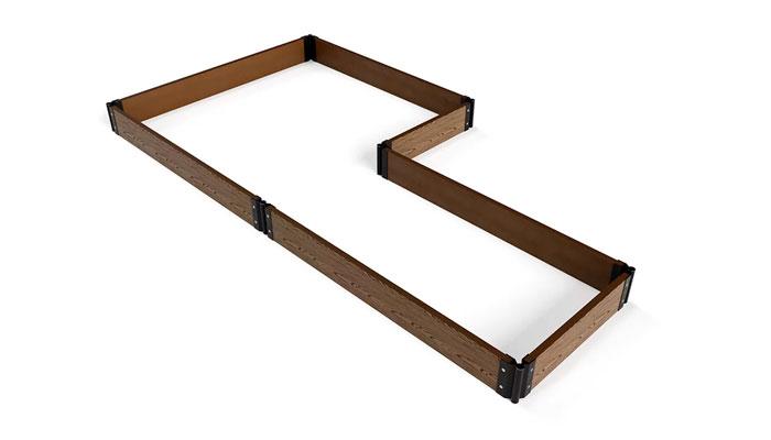 Заготовка для клумбы из комплекта «Еврогрядка» в форме двух прямоугольников