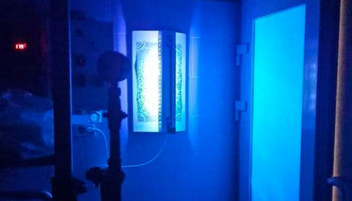 Инсектицидная лампа «Инсектобарьер» работающая в темноте