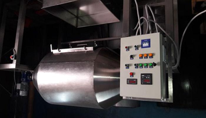 Барабанный стерилизатор для очистки зерна от личинок долгоносика